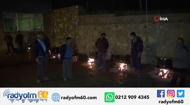 Tokat'ta yağmur için kurban kesilip dua edildi